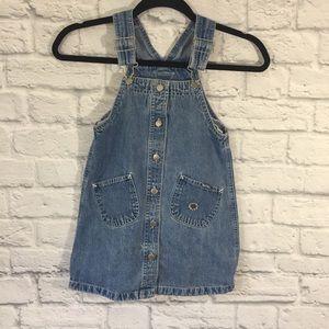 Girl's OshKosh B'gosh Vestbak Overalls Dress 6